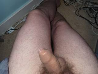 Truly beautiful and erotic uncut thick cock..wish I could play with it for a few days./