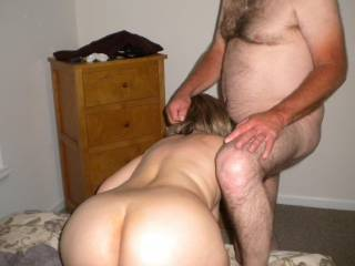 whether you did or not I guess you don't have a choice.  I sure like and and would do the same to her in front of you, making you watch as I load up her throat with my hot sticky seed after I would have done the same to her belly barebacking her hot cheating married cunt.