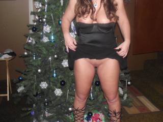 she said she is going to leave santa a litttle something, you think he would rather have milk and cookies or pussy and tits