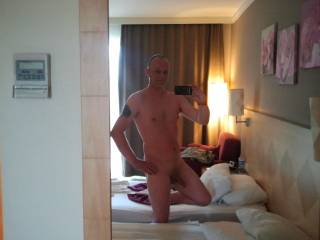 Alone in my hotel room.all that sun just makes ya horny!