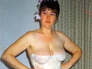 posing in lingerie