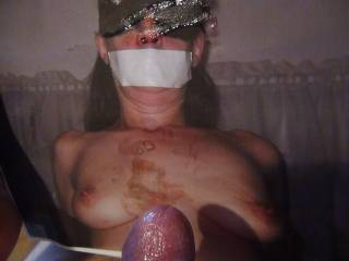 for 'Gabbyslave'......gotta love those bound subs.....any more 'boundslaves' want a facial??