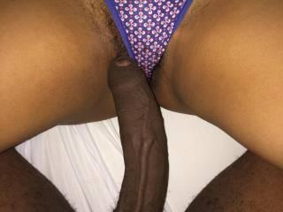 Great looking cock look good deep in her cum hole!