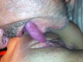 OMG!!! That pussy looks tasty. Can I have some? I'd love to eat it till she squirts & then dump a big load of my hot cum deep inside her!