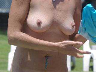rather nibble on your amazing hard nipples !!