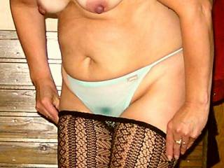 Yes she looks very sexy in her lingerie.