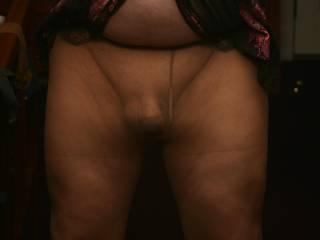 I love the way my cock looks in nylon.