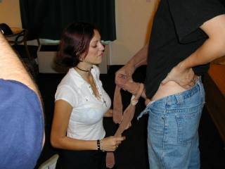 lucky guy love the feeling of nylon and being watched while doing it even hotter