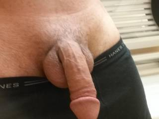 Self shot of cock after tanning. Do you like ladies?