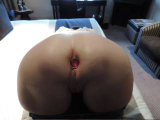 You like my red jewelled buttplug?