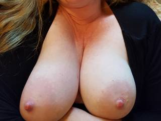 Love showing off my big milk filled tits... what do you think?