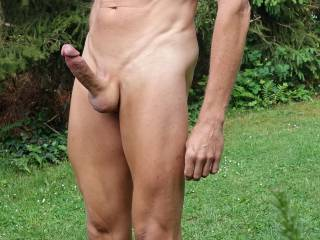 my hairless body with full erect shaved penis