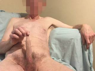 If I let go my cock will collapse back down. If you try stretching my foreskin I wonder will that still be the case?