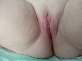 Just had to post some pictures of my wife's hot, sexy, smooth, shaved pussy. I would love to hear what viewers would like to do with her and or us. Send suggestions.