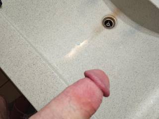jerking off in the sink