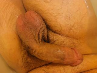 His cock and balls came out to play, anyone else wanna