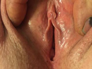 who doesn't love shaved pussy I tell all my friends to try it its heavenly especially when I lay my cock over it shes an instant squirter when I do that