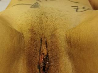 Can see cum over pussy? I\'ve just followed the wife\'s instructions