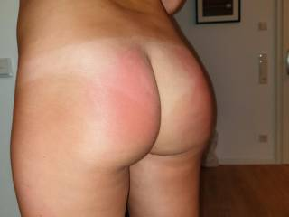 Spanked...look at my red butt