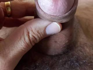 Stroking....edging.....precum.....someone to help me for more ?