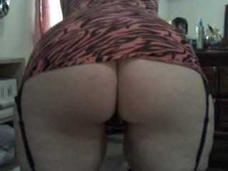 Ask her nicely to bend over and I would lick her ass and pussy and get her real wet the slowly slip my Hard Cock into her pussy and finger her ass. You think she would like that?