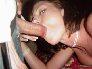Third stranger to cum down her throat that night.