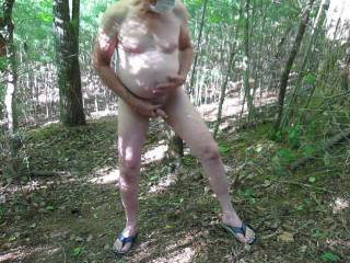 Getting naked in the woods, taking an enema and having a good jerk.  Also got my nails done.
