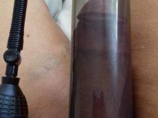 Woke up early and had to play with my cock pump....fuck this feels so good