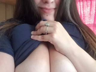 Showing off my HUGE tits lol