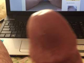 """HUGE CUMSHOT """"You ain't gotta take your panties off,just move em to the side...If you wanna roll on the rollercoaster then cum on and ride"""" 👌🏼 I had a nice wank to @Thicknhorny69...She has a lovely phat ass...Beautiful skin,perfect ❤️"""