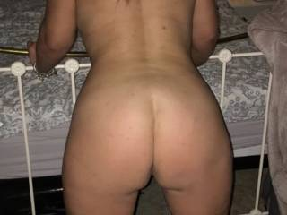 Can't get enough of being bent over the end of the bed.... what would you do??