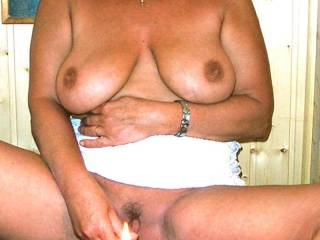 Mmmmm, love your huge tits and love seeing you with that lit candle in you HOT pussy!!!