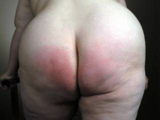 Mmmm nice and ready! id love to spank that with my hard black cock