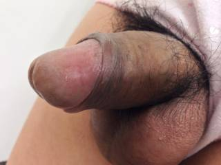 My penis and pink cotton panties.