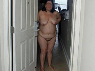 2009 summer vacation!  Answering the condo door naked...wished you had knocked at my door?