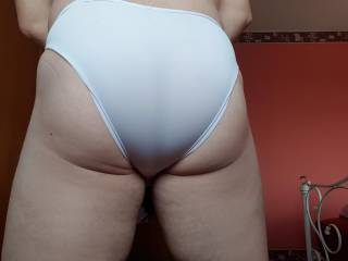 My Fat Ass in Silky Smooth White Briefs 🤗