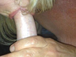 She knows if she keep sucking it'll stay hard for her morning fuck!!