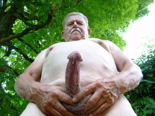 Enjoying a beautiful summer day naked and playing with my cock