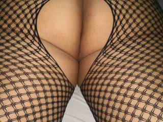 Do you like my new fishnet lingerie? Any suggested bed game?