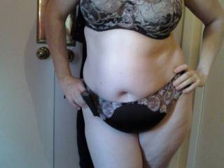 here\'s the wife showing off. hope you like. loving the comments so far. would love some more.