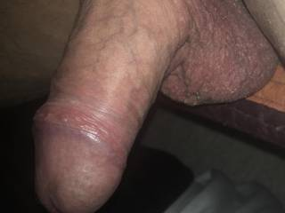 Just taking a break. Do you like my cock