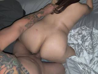 Pulled her hair right before I can inside of her pussy.