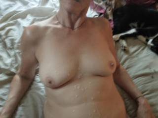 Busted huge load after fucking. That could be YOUR CUM for twenty