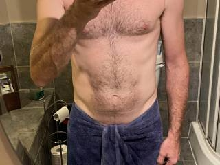 Just had a shower after a hard day