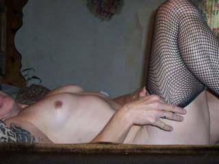 I would love to feel those legs clad in stockings wrapped around me as I pound my cock into you!
