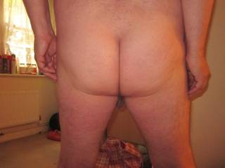 I dedicate this pic of my bare ass to my loyal and lovely friend, ZOIG member ssenior. Hope you like this view of my buns and crack, babe, and anyone else who has a look