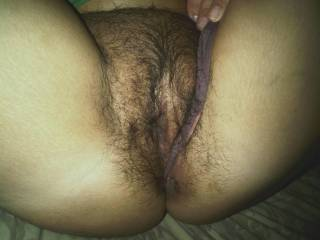 U like this phat hairy yung pussy????? Wat wud u guys do to me & my hungry wet pussy????????