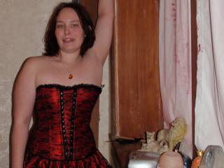 me in my red corset