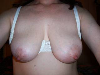 Ooooh, you have so gorgeous tits!!! i want to suck your great nipples! would you after that suck my cock?