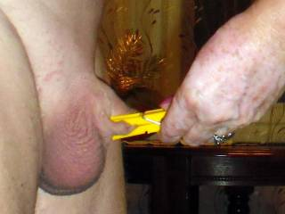 we love to play with little cocks I am sure we could make him cum then make him watch as the 3 of us pleasure each other at his expense
